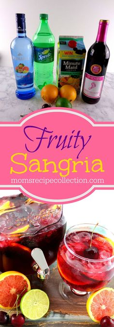 This fruity sangria comes together quickly and is refreshing. This fruity sangria comes together quickly and is refreshing. The post This fruity sangria comes together quickly and is refreshing. appeared first on Getränk. Fruity Sangria Recipe, Sangria Recipes, Drinks Alcohol Recipes, Cocktail Recipes, Sangria Mix, Alcoholic Desserts, Punch Recipes, Vodka Sangria, Margarita Recipes