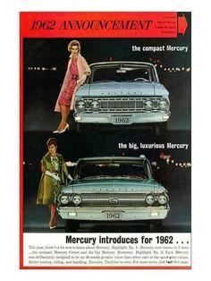 Premium Giclee Print: 1962 Mercury Comet or Monterey : 32x24in