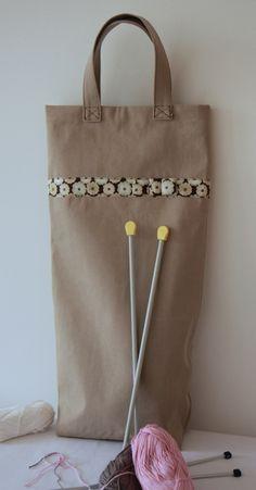 237dcfda15ad La couture au service du tricot… Un tote bag pour la laine et les aiguilles  à tricoter…