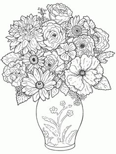 Flowers Coloring Pages Free Printable Coloring Pages Police Officer Coloring For Kids With Cop. Flowers Coloring Pages Free Printable Coloring Pages C. Flower Coloring Sheets, Printable Flower Coloring Pages, Garden Coloring Pages, Spring Coloring Pages, Printable Adult Coloring Pages, Mandala Coloring Pages, Christmas Coloring Pages, Animal Coloring Pages, Coloring Pages To Print