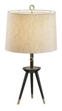 Jonathan Adler Ventana Tripod Modern Table Lamp