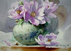 José Garrido. Marzo 2013. Acuarela 46 x 32. Son las flores un tema pictórico que me atrae especialmente. La acuarela, con su trans...
