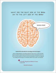St. Joseph Hospital Print Ad - Neurology and Neurosurgery www.providerfinance411.com