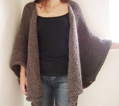 Ravelry: Alpaca Cape Jacket pattern by Siobhan Brown. For my coffee-colored bulky yarn?