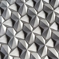 nexttoparchitects:  by @havelockdesigns My origami inspired concrete tile which I designed and made #WHPgeometry @instagram