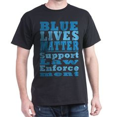 Blue Lives Matter Favorite Tee #BlueLivesMatter #BackTheBlue #SupportLawEnforcement shirts mugs aprons pjs pillows thermos products - for all this design click here - http://www.cafepress.com/dd/105929217