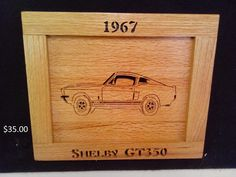1967 Shelby GT 350 by Rickswoodworks1 on Etsy