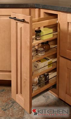 Spice drawer - super convenient! : cabinet storage solutions - Cheerinfomania.Com
