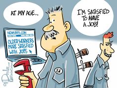 cartoons older workers - Google Search