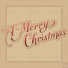 Merry Christmas Hand Lettering (vector) | GraphicRiver