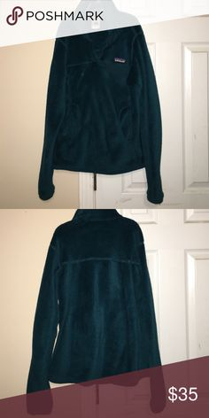 Dark blue Patagonia pullover women's jacket Dark blue/green XS women's fit Patagonia jacket. Worn a few times in good condition Patagonia Jackets & Coats Utility Jackets