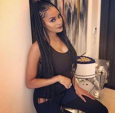 braided hairstyles for black women Free idea Box Braids Hairstyles, Braided Cornrow Hairstyles, African American Braided Hairstyles, Braided Hairstyles For Black Women, African Hairstyles, Girl Hairstyles, Half Cornrows, Cornrow Braid Styles, African Braids Styles