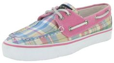 $54.99-$60.00 Women's Sperry Bahama 2 EYE Blue Madras 9561432 (WOMEN 5, Blue Madras) - A cooler, lighter version of the original Sperry Top-Sider boat shoe in madras plaid canvas. Smooth, soft canvas twill fabric upper in a boat style casual oxford, with contrast colored stitching accents, a stitched seam moc style toe, and a contrasting top panel for a sporty look. Laced sides and a two eye lace  ...