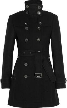 Burberry Brit Double-breasted wool-blend felt coat #coat #jacket #black