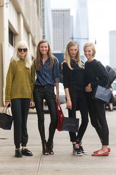 Ola Rudnicka, Mila Krasnoiarova, Olga Sherer, Sasha Luss after RL SS15