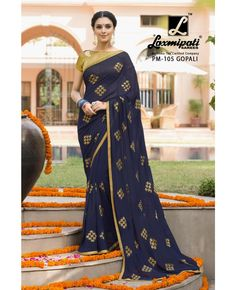 Shop latest Laxmipati Embroidered Sari at affordable prices from Indiwear in variety of designs, colors and fabrics. Laxmipati Sarees, Indian Clothes Online, Printed Sarees, Indian Outfits, Indian Fashion, Blouse Designs, Beautiful Dresses, Curves, Sari