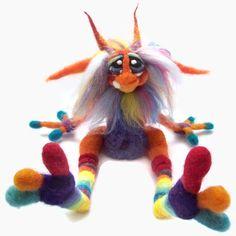 OOAK Custom Made Needle Felt Goblin Fantasy door TangleWoodThicket,