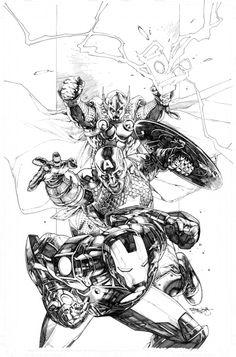 Vengadores,Piloto, Luis y Ricardo Los Acosta's Marvel NOW! by *sjsegovia on Ricardo's arts