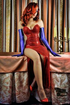 Jessica Rabbit - I'm glad she decided to not try and mimic the character's weird face. Or dress up as the fat detective instead.