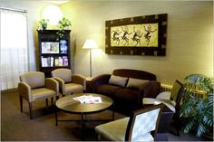 Architecture , Chiropractic Office Design Idea : Chiropractic Patients Waiting Room Conceived As A Living Room