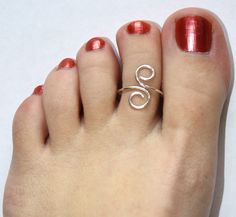 Sterling Silver Wire Wrapped Toe Ring