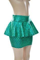 Green Mermaid Peplum Skirt