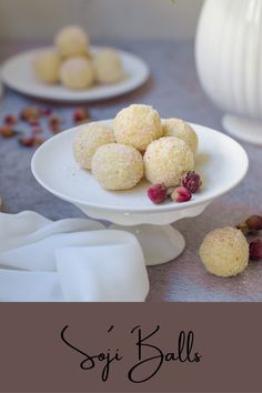 Quick and Easy Soji Balls made with semolina, condensed milk and cardamom My Recipes, Sweet Recipes, Cake Recipes, Soji Recipe, Milk Roll, Semolina Cake, Diwali Food, South African Recipes, How To Double A Recipe
