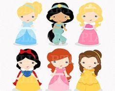 Princesas de Cuentos de Hadas Digital Clipart por ClipArtopia