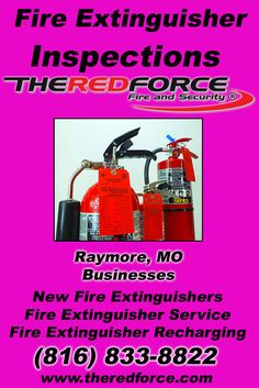 Fire Extinguisher Inspections Raytown, MO (816) 833-8822 Check out The Red Force Fire and Security.. The Complete Source for Fire Protection in Missouri. Call us Today!