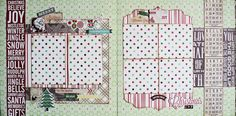 Merry Christmas 2Page Layout Scrapbooks by beautifuldelights, $15.00