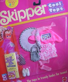 Amazon.com: Barbie Skipper Cool Tops Fashions (1989): Toys & Games