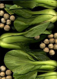 Bok choy and Hickory nuts