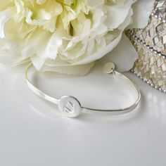 Beloved bracelet silver. Choose your own letter or gift it to someone you love