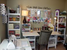Who needs a huge closet? Give me a scrapbooking room instead!