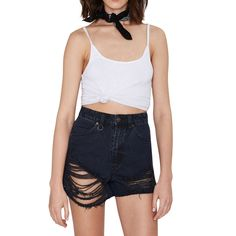 Women's Levi's Distressed Black Lola Low Rise Trendy Cut-Off Shorts