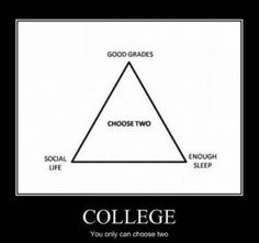 college life, the options are not limitless choose 2