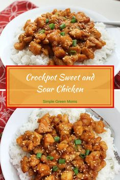 This sweet and sour crockpot chicken dinner recipe is to die for! Skip your usual Chinese take-out and make this easy and healthy slow cooker alternative! recipe Best Crockpot Sweet and Sour Chicken Recipe-Simple Green Moms Crockpot Sweet And Sour Chicken Recipe, Crockpot Chicken Dinners, Sweet Sour Chicken, Crockpot Dishes, Healthy Crockpot Chicken Recipes, Recipe Chicken, Dinner Crockpot Recipes, Crock Pot Healthy, Asian Crockpot Chicken