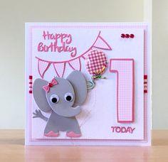 First Birthday Card, Handmade - Birthday Card - Giraffe /Duck/ Elephant/ Hippo/ Lion/ Koala Bear - Birthday Girl / Boy Birthday Cards For Boys, Baby Girl 1st Birthday, Handmade Birthday Cards, Handmade Cards, Boy Cards, Cute Cards, Dinosaur Cards, Bear Card, Purple Cards