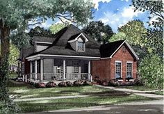 Country Farmhouse Elevation of Plan 82020