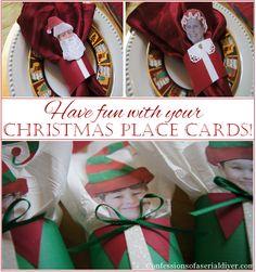 Fun Christmas Place Card Idea!