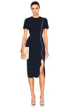 Image 1 of Roksanda Sabra Dress in Navy & Lavender