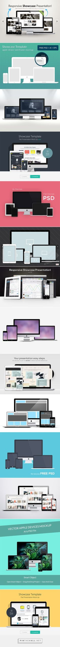 15 Mockups to Showcase Your Responsive Web Designs - created via http://pinthemall.net