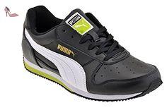 Puma Fieldsprint L Jr, Baskets mode garçon, Noir (Black/White/Lime Punch), 37,5 - Chaussures puma (*Partner-Link)