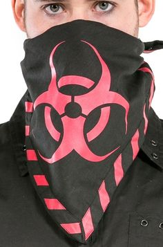 Dead Threads Biohazard Scarf (Red), also available in neon yellow! £8.99    http://www.attitudeclothing.co.uk/product_32595-64-994_Dead-Threads-Biohazard-Scarf-%28Red%29.htm