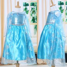 >> Click to Buy << Blue Baby Girls Kids Queen Dress Up Gown Costume Ice Princess Dress Size 3-8Y hot sale high quality #Affiliate