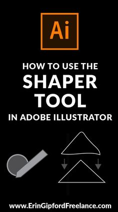 In this Adobe Illustrator video tutorial, I am going to show you how to use the Shaper Tool inside Adobe Illustrator. It's a bit controversial in my opinion. One, because I had never even heard about Web Design, Graphic Design Tutorials, Tool Design, Graphic Design Inspiration, Vector Design, Adobe Illustrator Tutorials, Photoshop Illustrator, Ai Illustrator, Shaper Tools