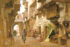 Frederick Goodall An Arabic Street « Frederick Goodall (1822-1904) « Artists « Art might - just art
