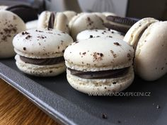 Oreo makronky - Víkendové pečení Oreos, Macarons, Hamburger, Cheesecake, Cookies, Breakfast, Desserts, Christmas, Food Ideas