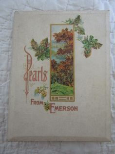 Pearls from Emerson Hayes Lithograph Co Antique by rarefinds4u on Etsy How To Antique Wood, Antique Books, Vintage Photos, Vintage Items, Corner Moulding, Old Lights, Old Farm Houses, Lace Doilies, Emerson