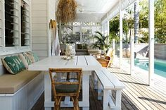 Byron Bay beach house renovation gallery 1 of 16 - Homelife Style Tropical, Coastal Style, Coastal Living, Florida Living, Outdoor Rooms, Outdoor Living, Outdoor Furniture Sets, Deck Furniture, White Furniture